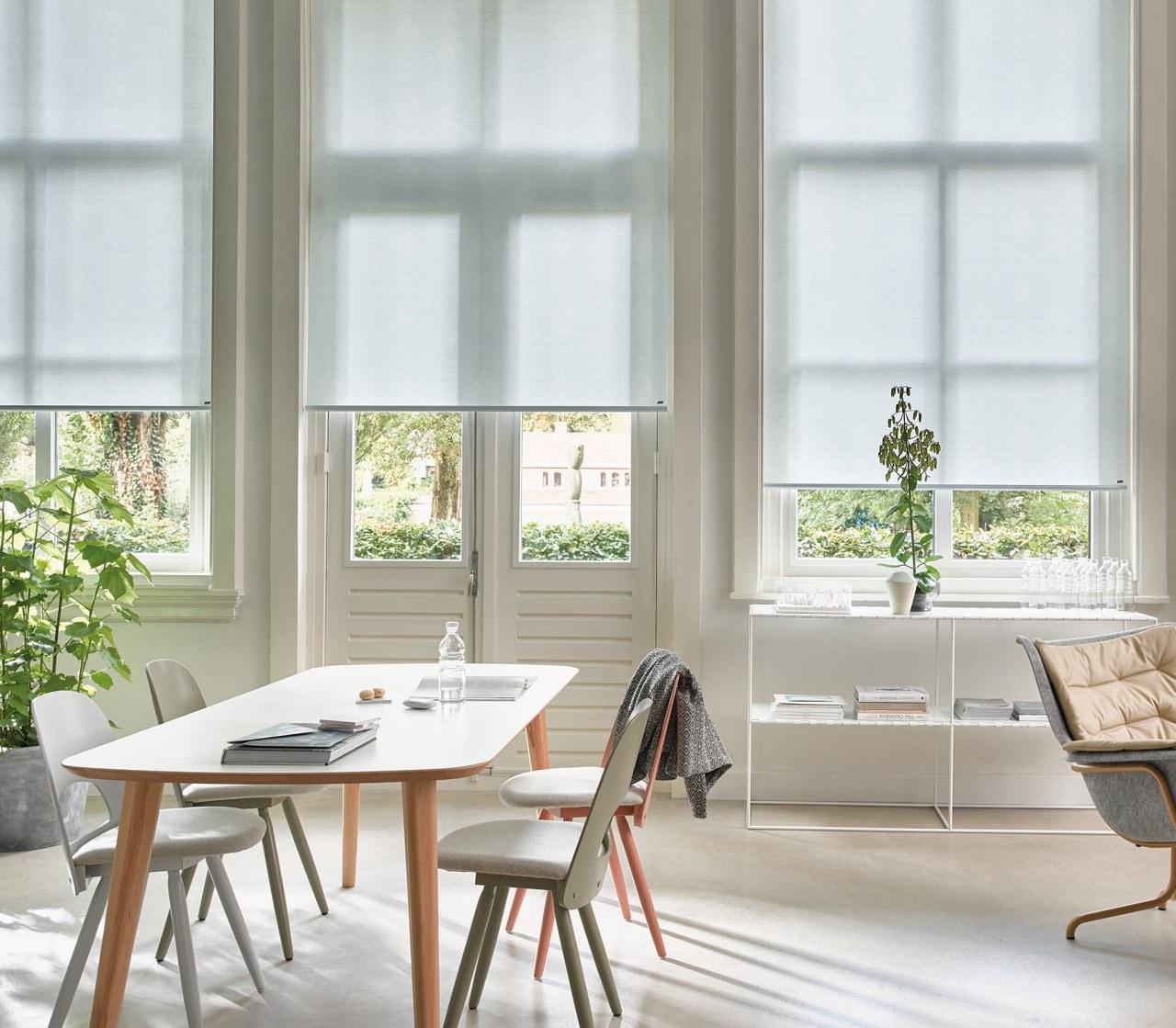 Luxaflex sunscreen blinds filter sunlight while meeting stringent