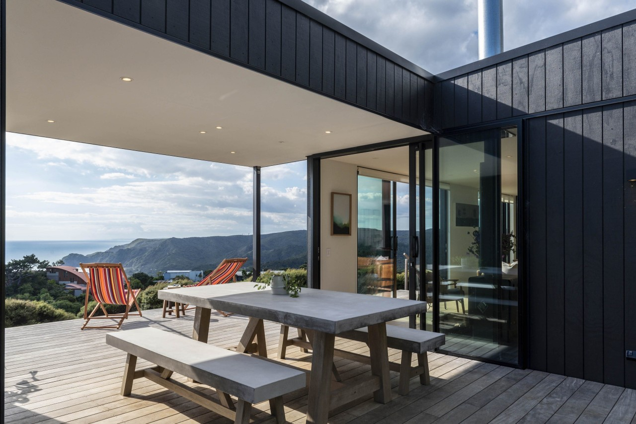 A holiday home with a long, linear footprint