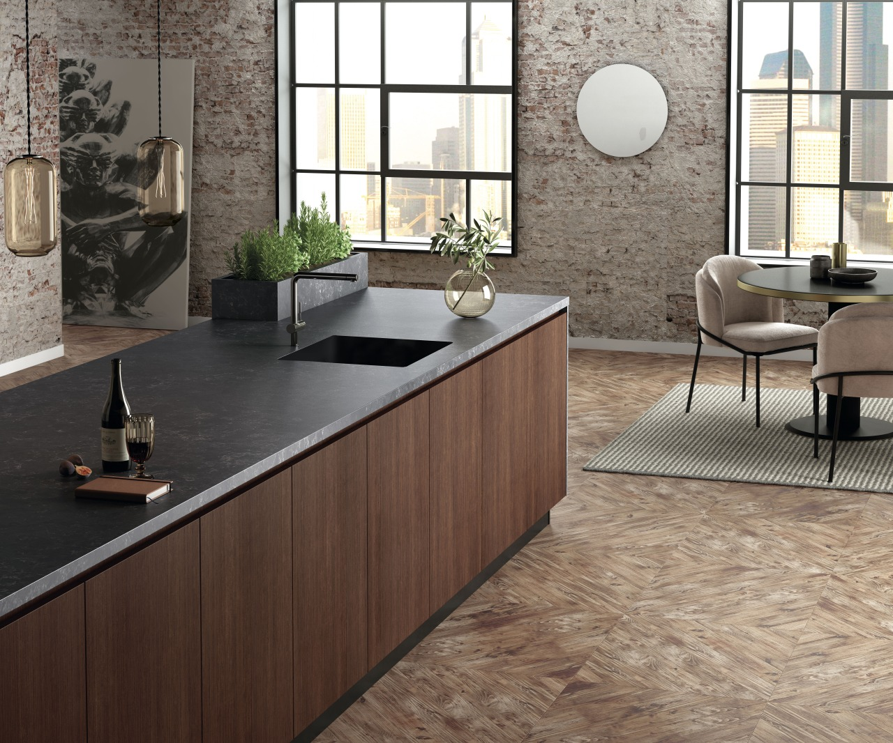 Silestone Corktown is the mostintense, solid and deep
