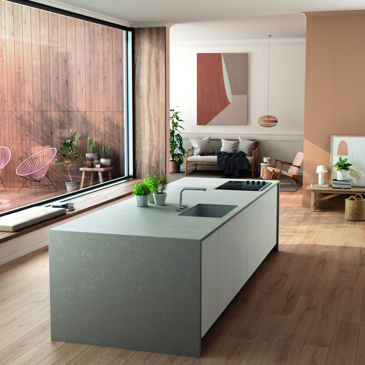 Silestone Poblenou – a warm shade of grey