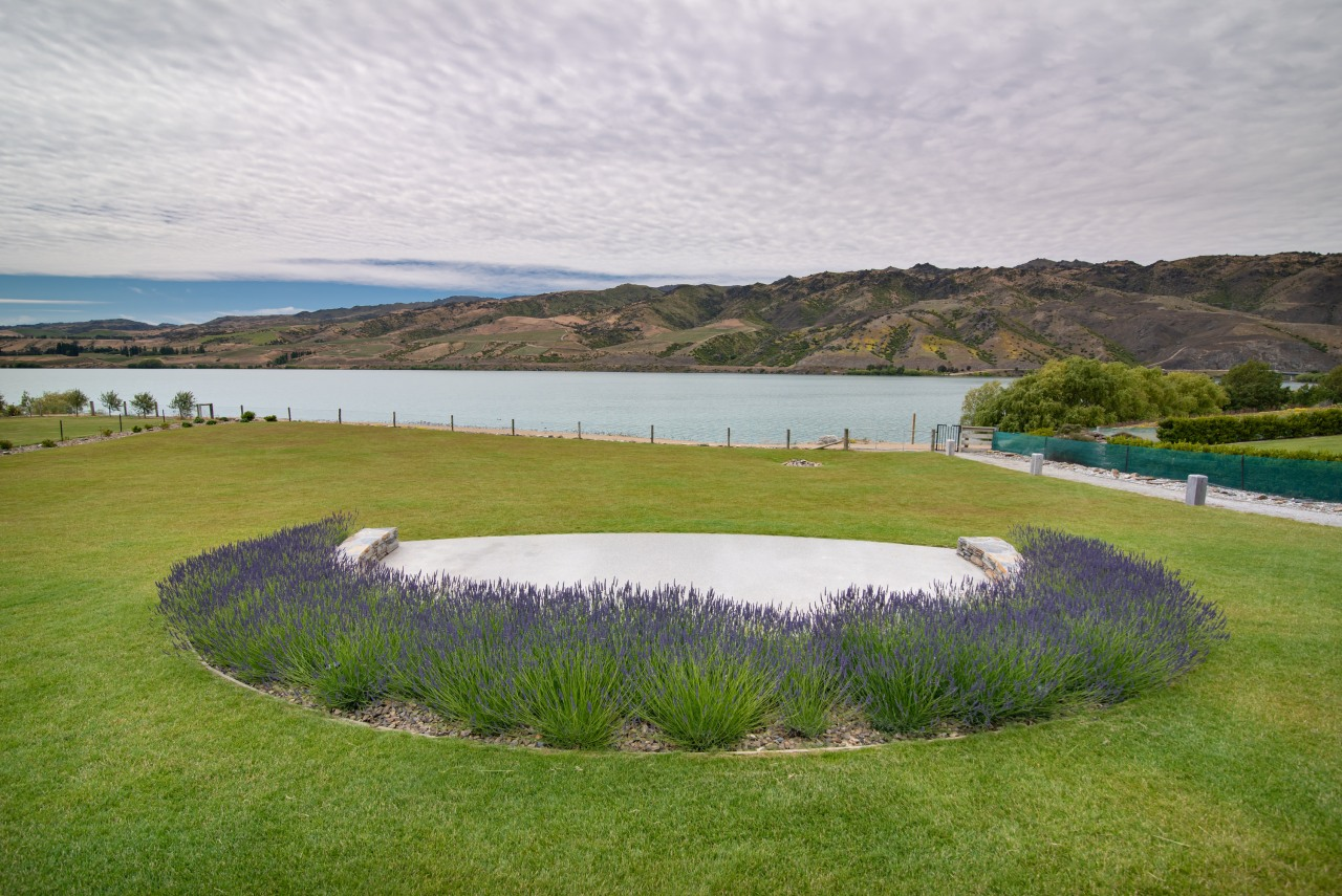 Private viewing – lavender downplays the scenic seat's