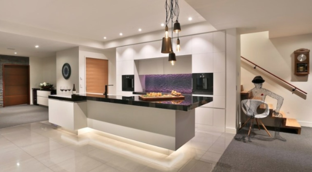 See more here interior design, kitchen, living room, property, real estate, room, gray