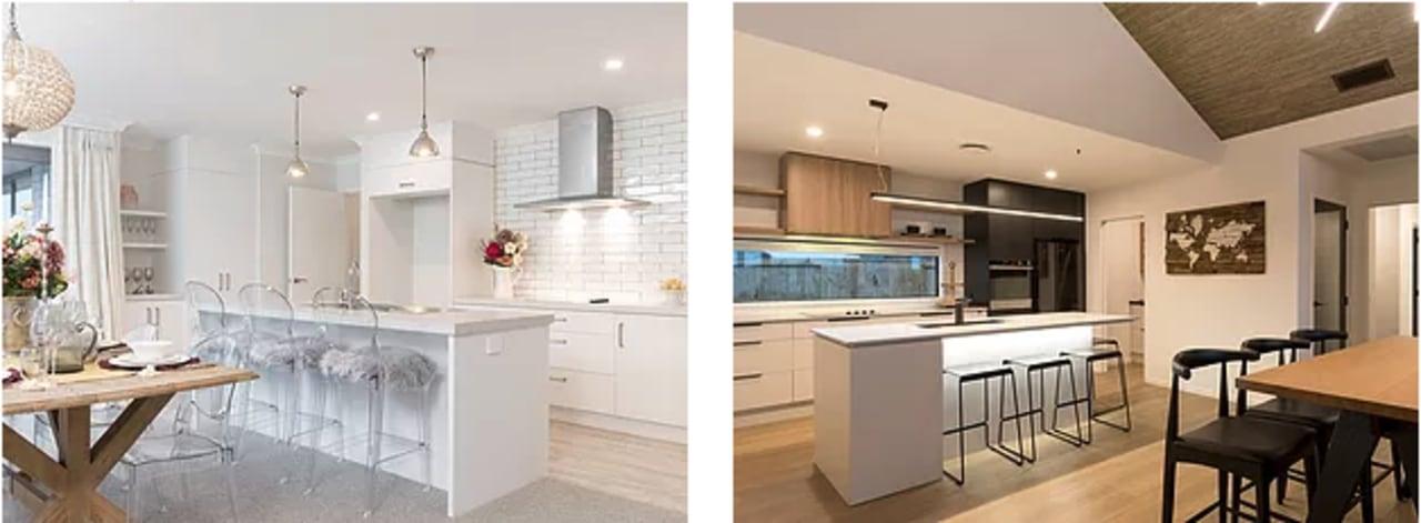 Her vs. his kitchen - countertop | cuisine countertop, cuisine classique, home, interior design, kitchen, real estate, room, white