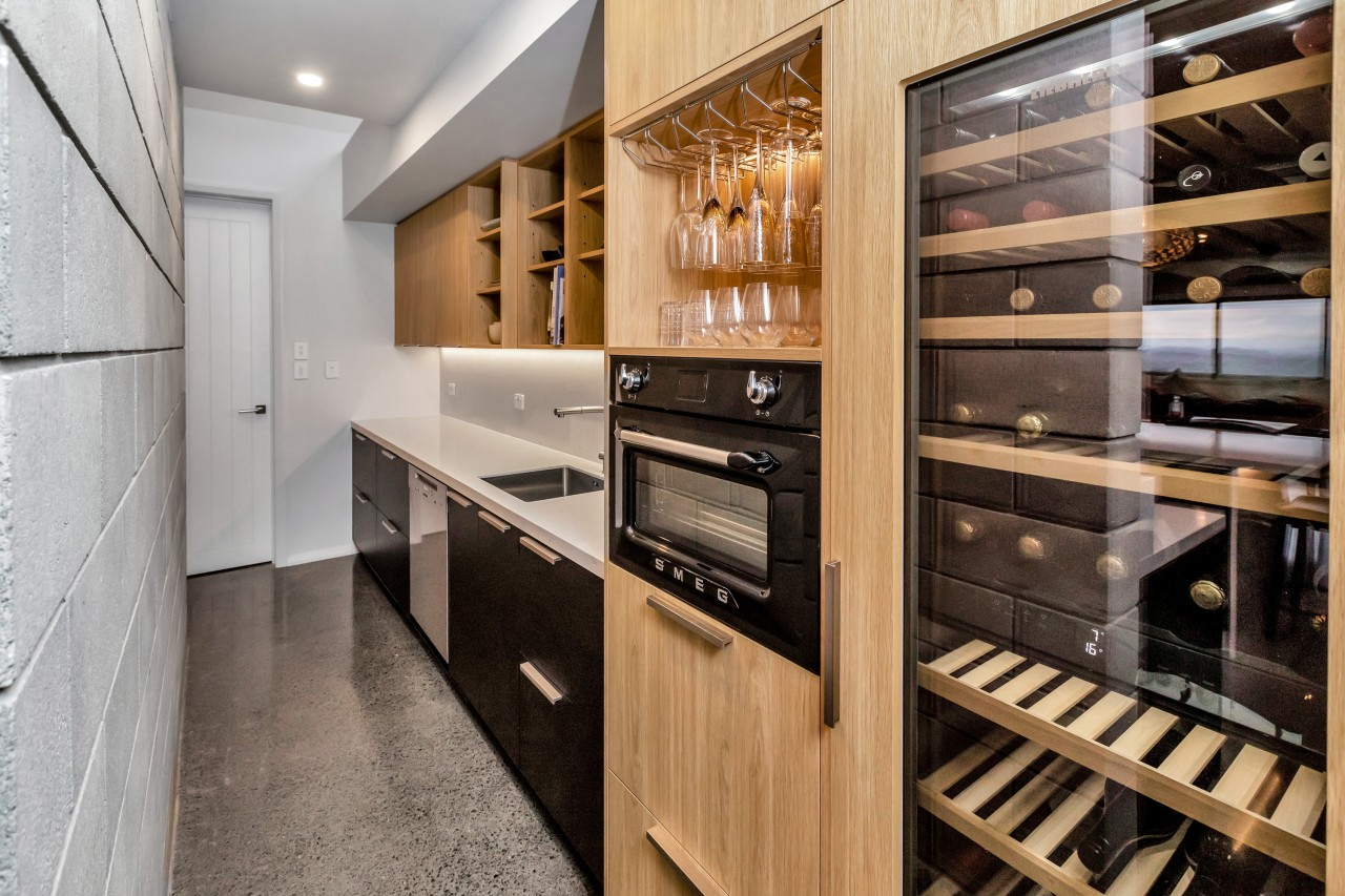 The back-of-kitchen scullery is as attractive as the