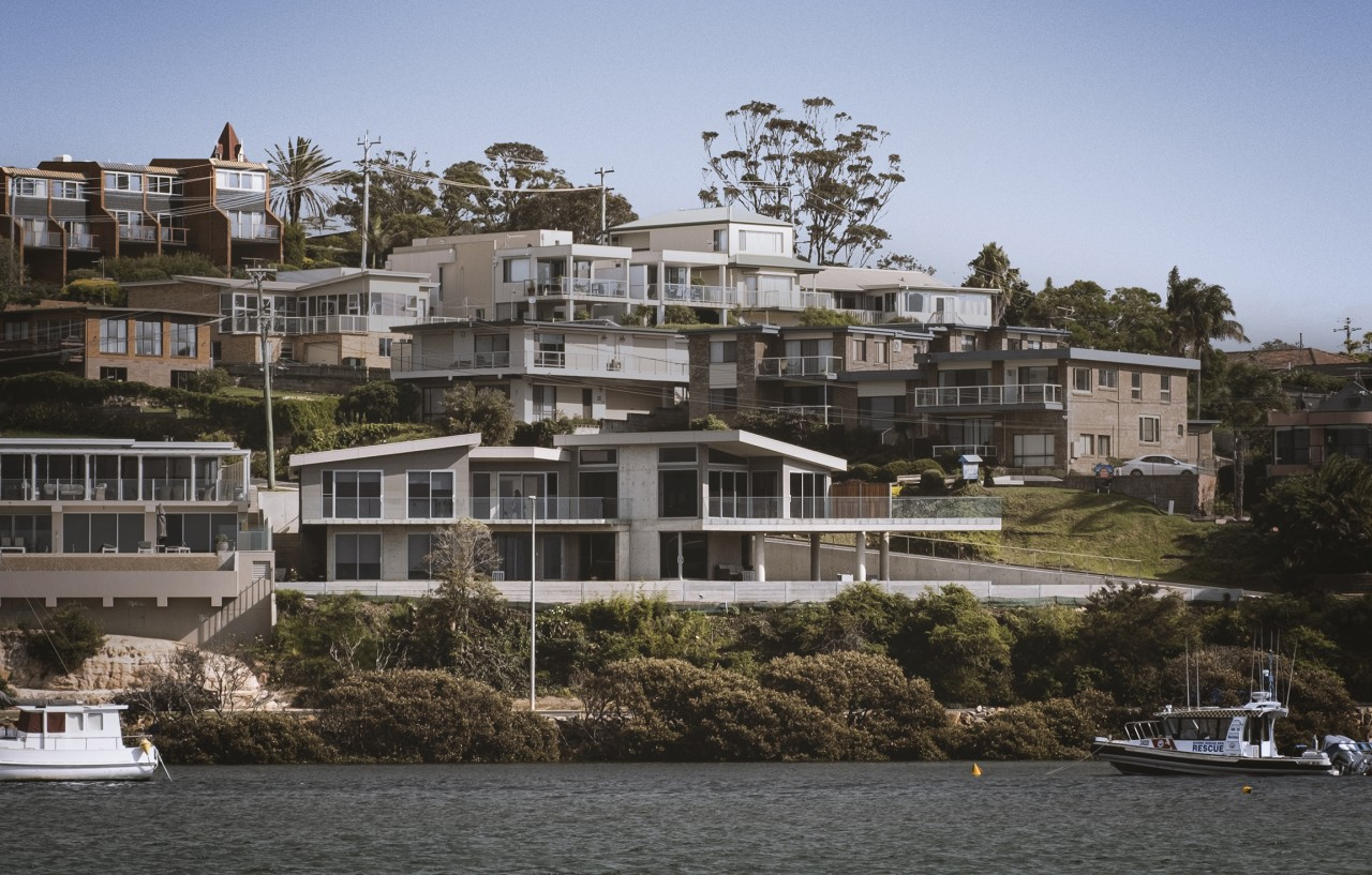 This custom built luxury home has high, sweeping