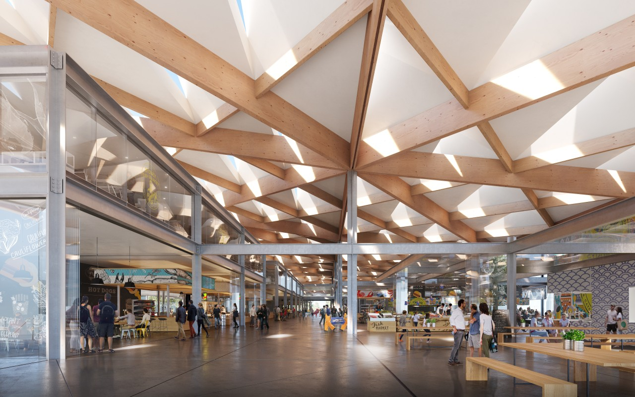 The building's roof is an integral aspect of