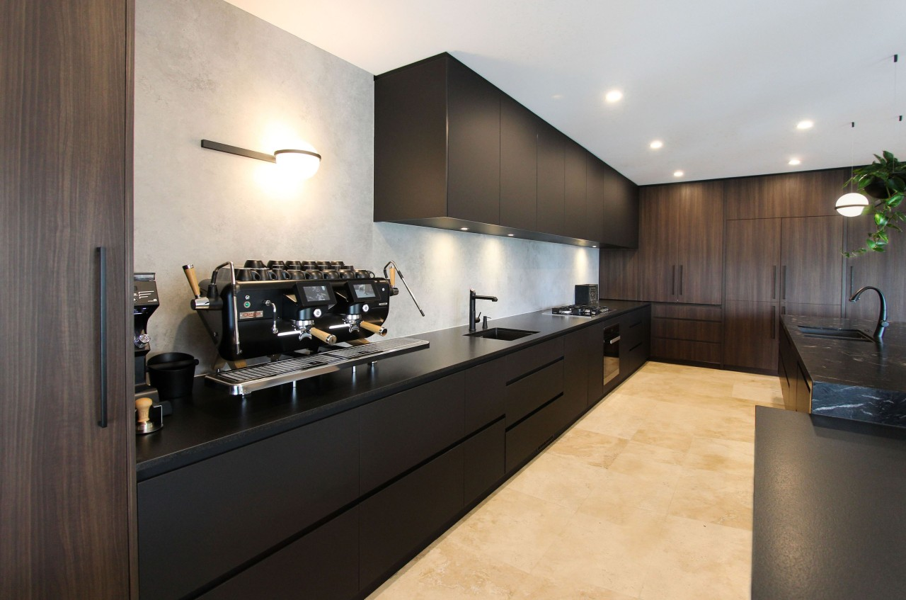 A luxurious natural stone benchtops with a textured