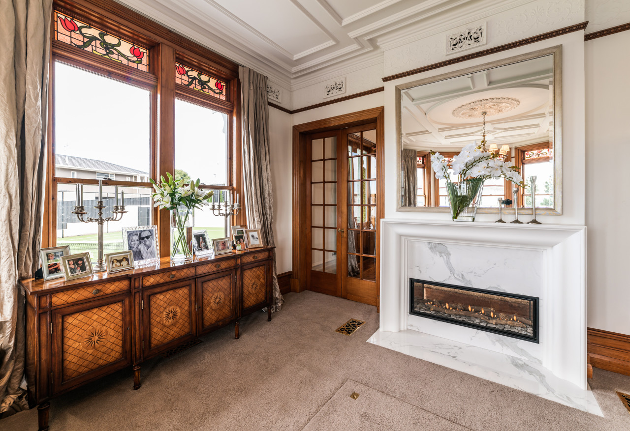 Classic meets modern – while the elaborate period