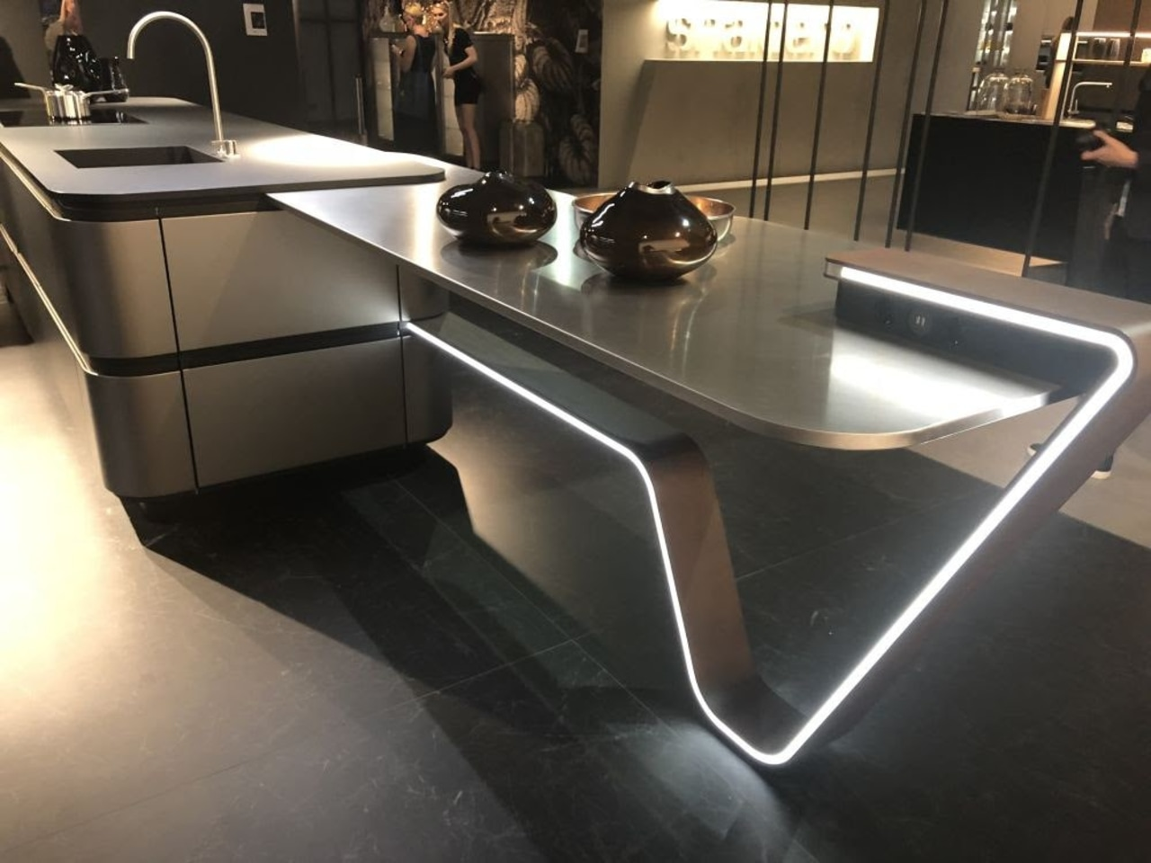 Trend 5 Product Versatility - countertop | floor countertop, floor, flooring, furniture, kitchen, sink, table, tap, black