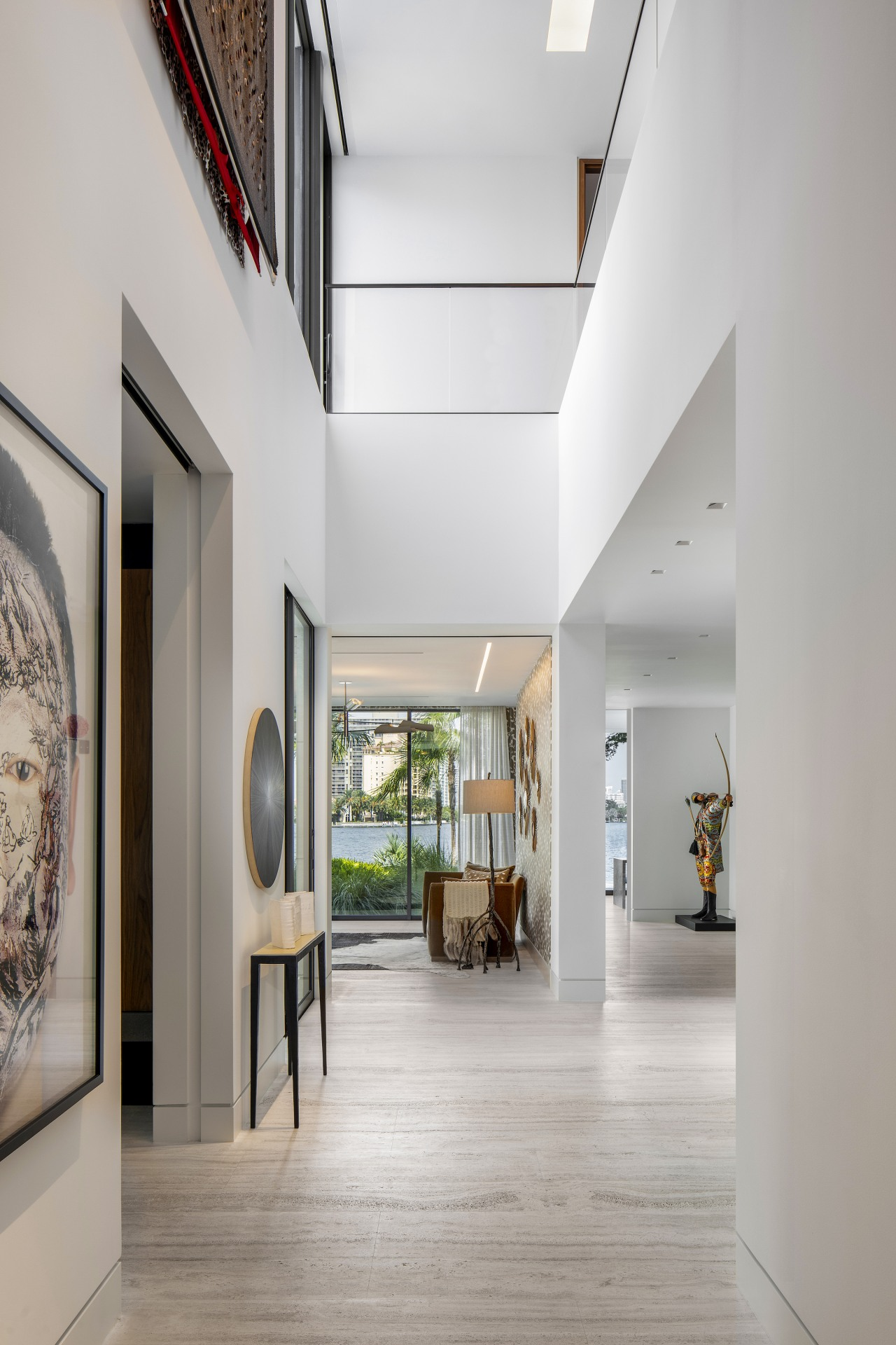 The interior architecture has been kept unfussy and