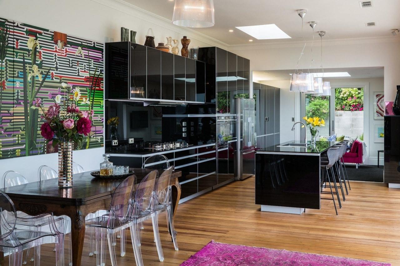 Winner – German Kitchens - home | interior home, interior design, kitchen, living room, real estate, room, gray, black
