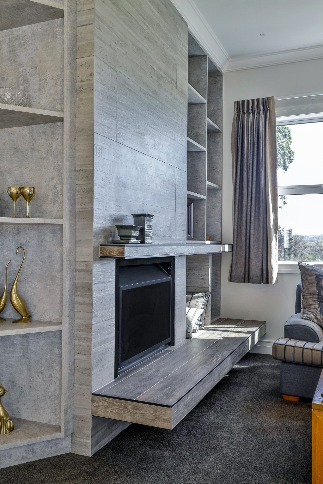 The home's interior is more contemporary but with