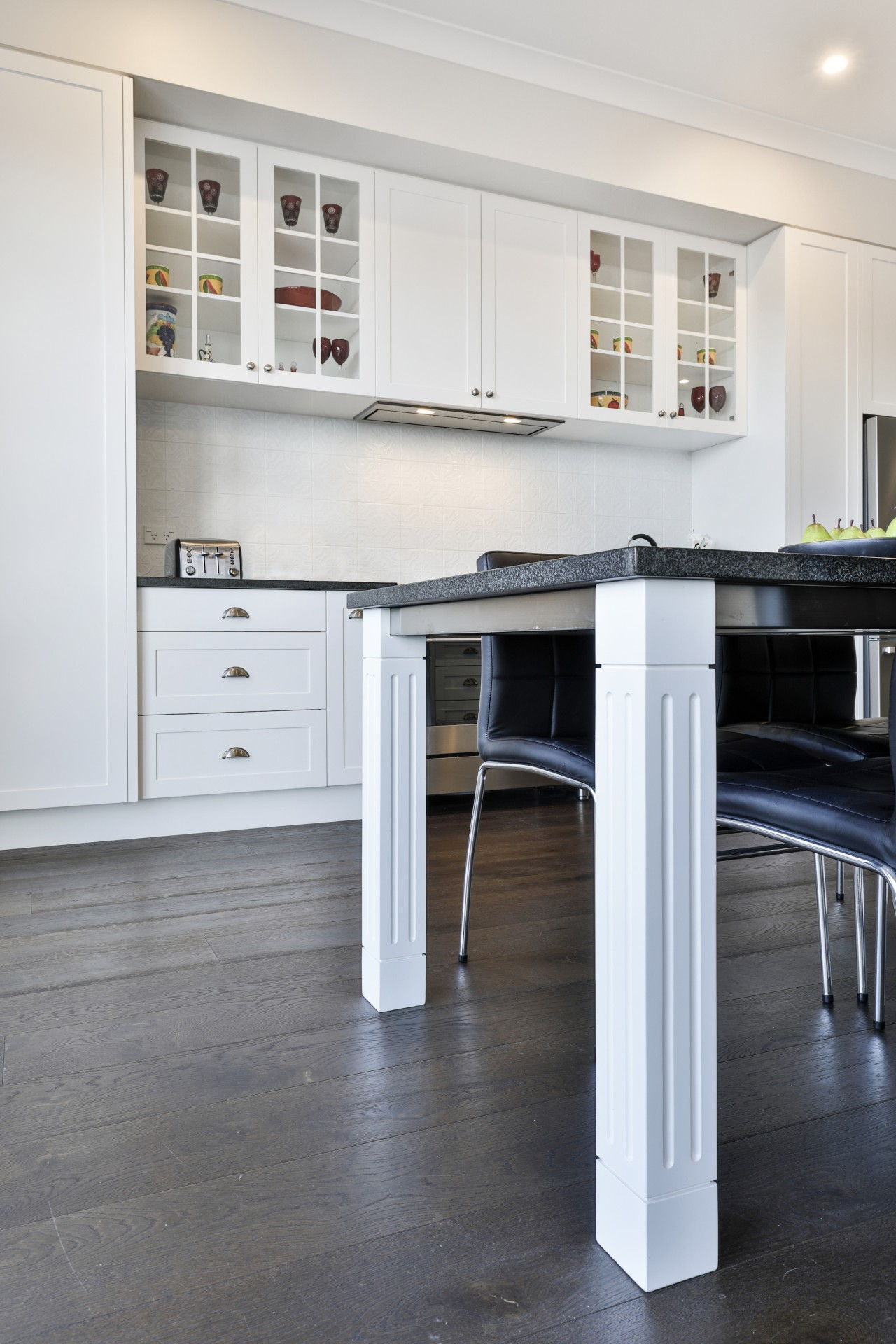 Even the breakfast table legs feature ornate period