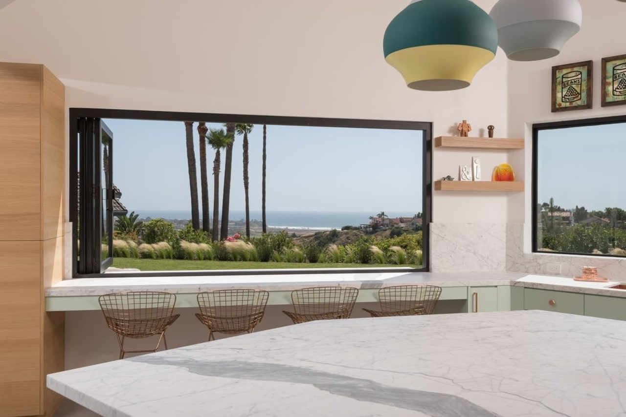 A view out to the sea estate, home, house, interior design, property, real estate, window, gray