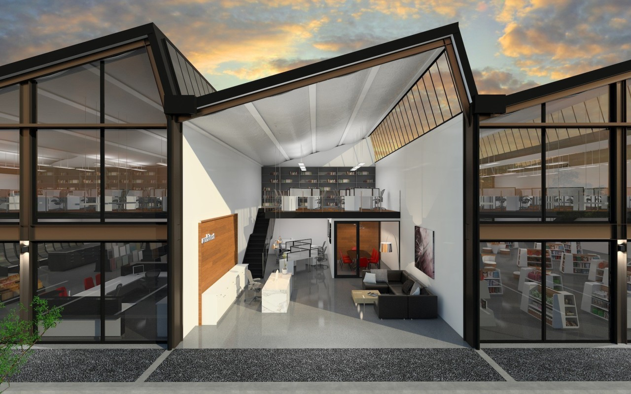 Calder Stewart developed this project using an adaptable architecture, facade, house, interior design, real estate, gray, black