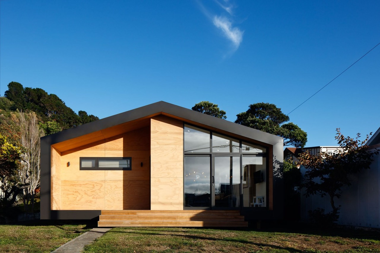 Seatoun House – First Light Studio architecture, cottage, elevation, facade, home, house, property, real estate, residential area, sky