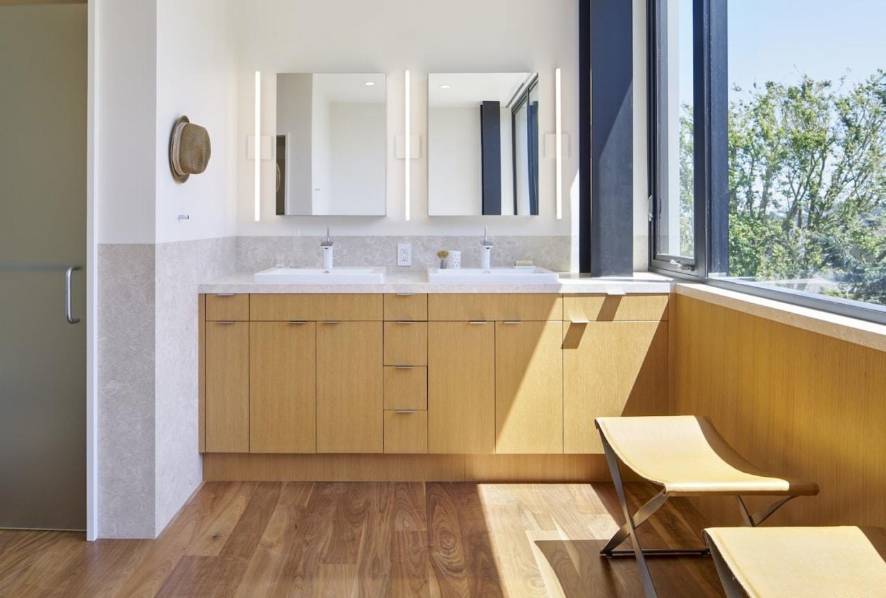 Architect: Schwartz and Architecture: SaAPhotography by Bruce architecture, bathroom, bathroom accessory, bathroom cabinet, cabinetry, countertop, floor, flooring, hardwood, interior design, kitchen, property, real estate, room, sink, wood, wood flooring, gray