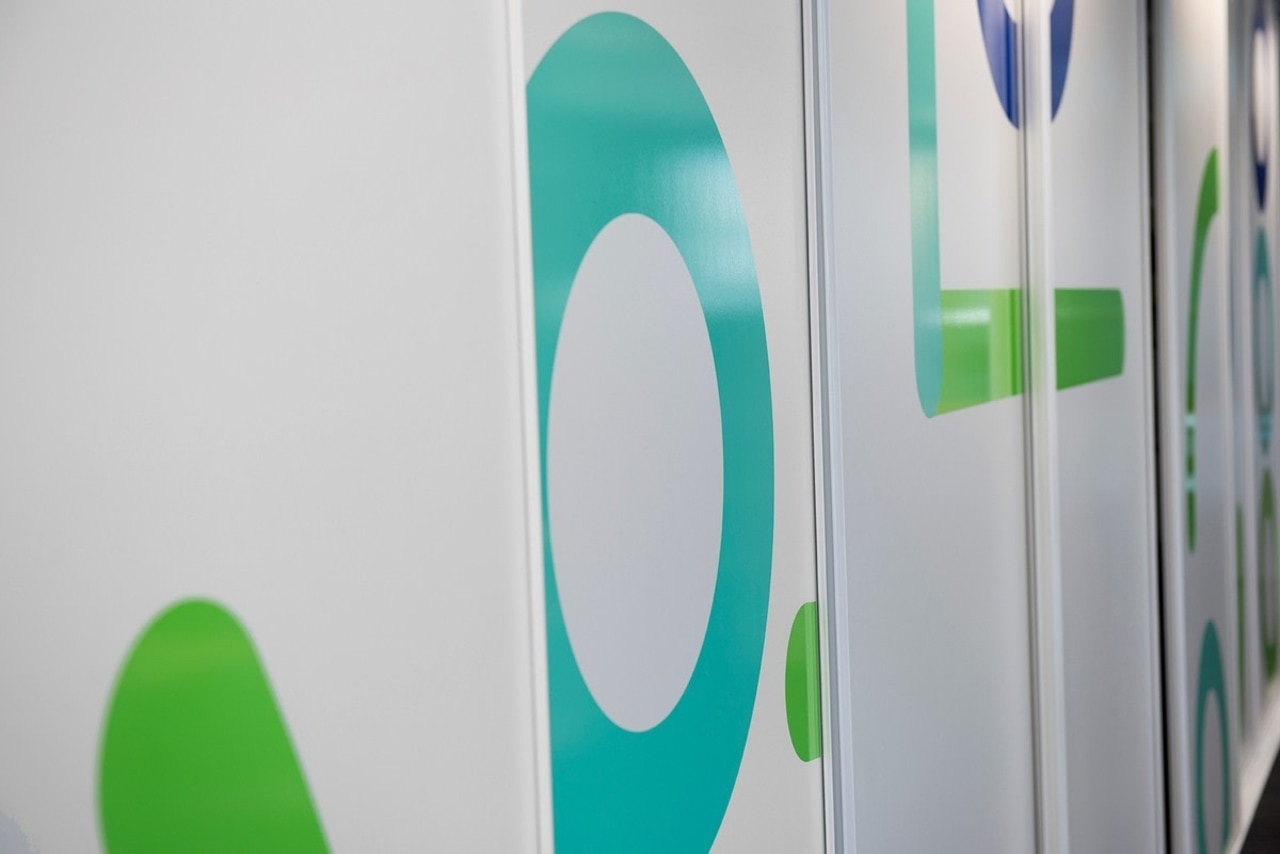 TTM graphics can be found throughout the overhauled green, product, product design, sports equipment, white, gray