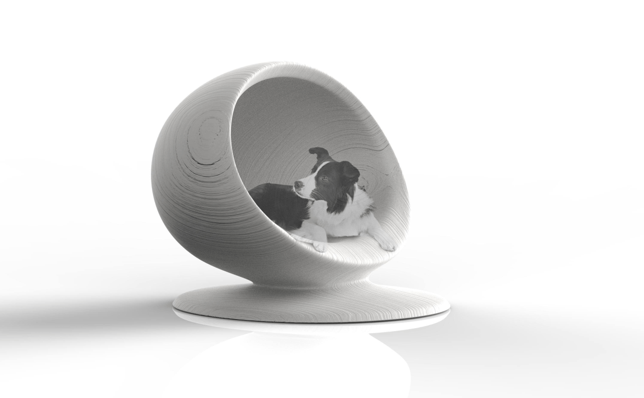 21st century barkitecture product, product design, white