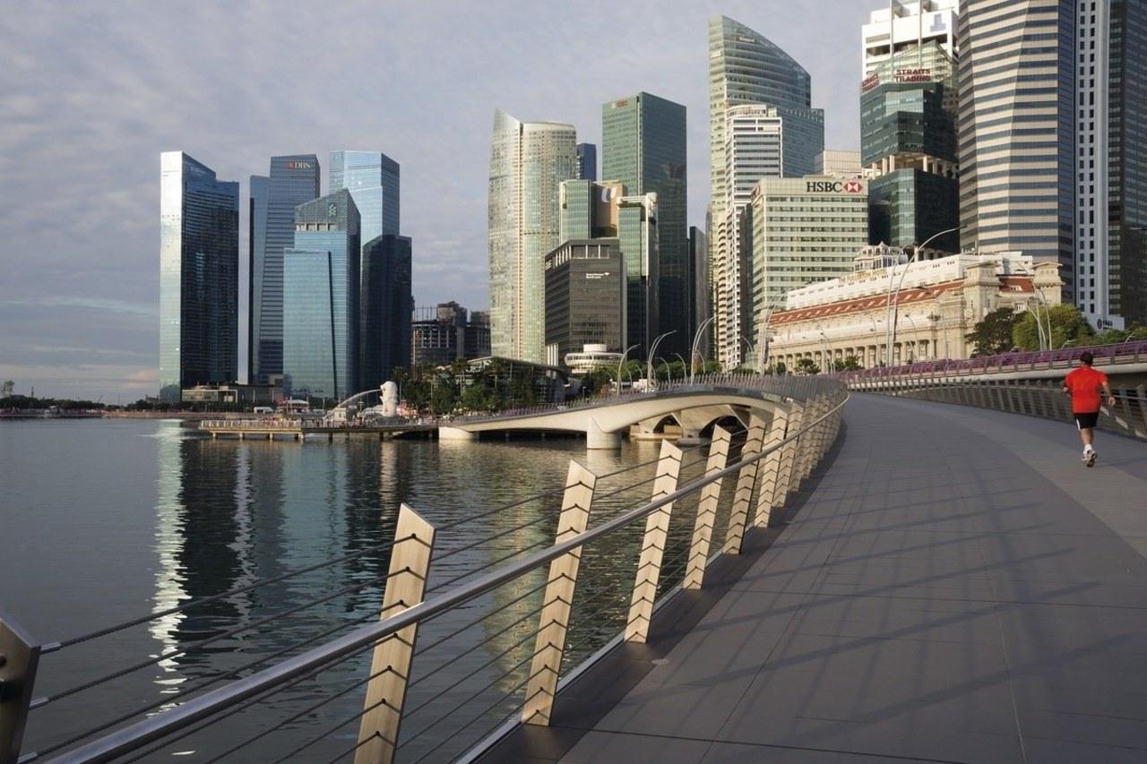 Jubilee Bridge – Cox Architecture building, city, cityscape, condominium, downtown, metropolis, metropolitan area, skyline, skyscraper, tower block, urban area, gray, black