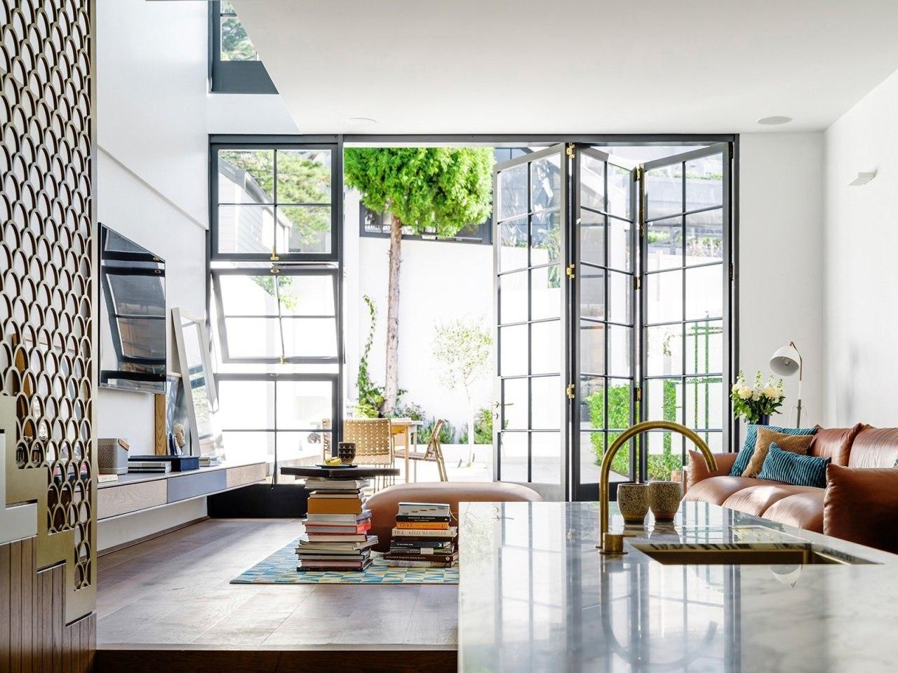 Architect: Luigi Rosselli. Photography by Justin Alexander, Sean condominium, daylighting, home, interior design, living room, loft, window, white