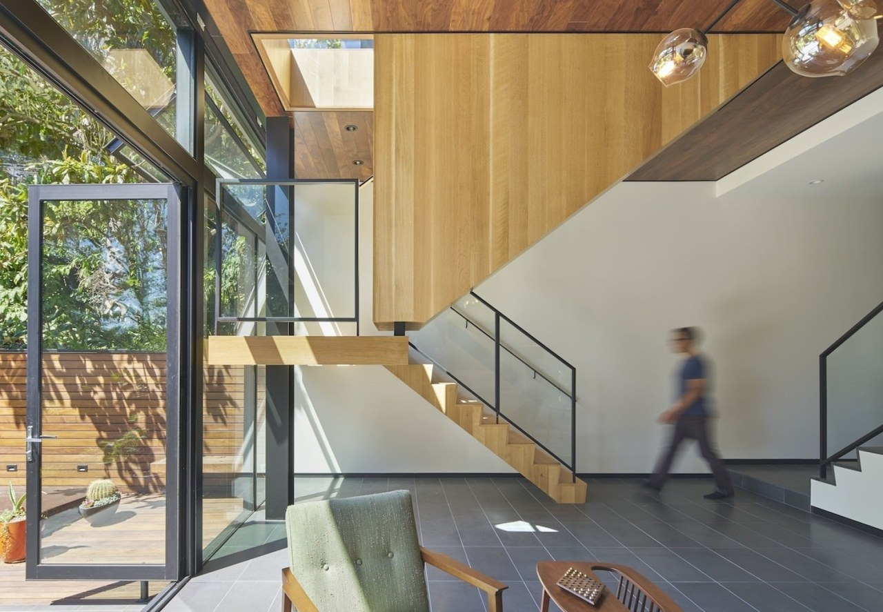 Architect: Schwartz and Architecture: SaAPhotography by Bruce architecture, daylighting, glass, handrail, home, house, interior design, real estate, stairs, gray