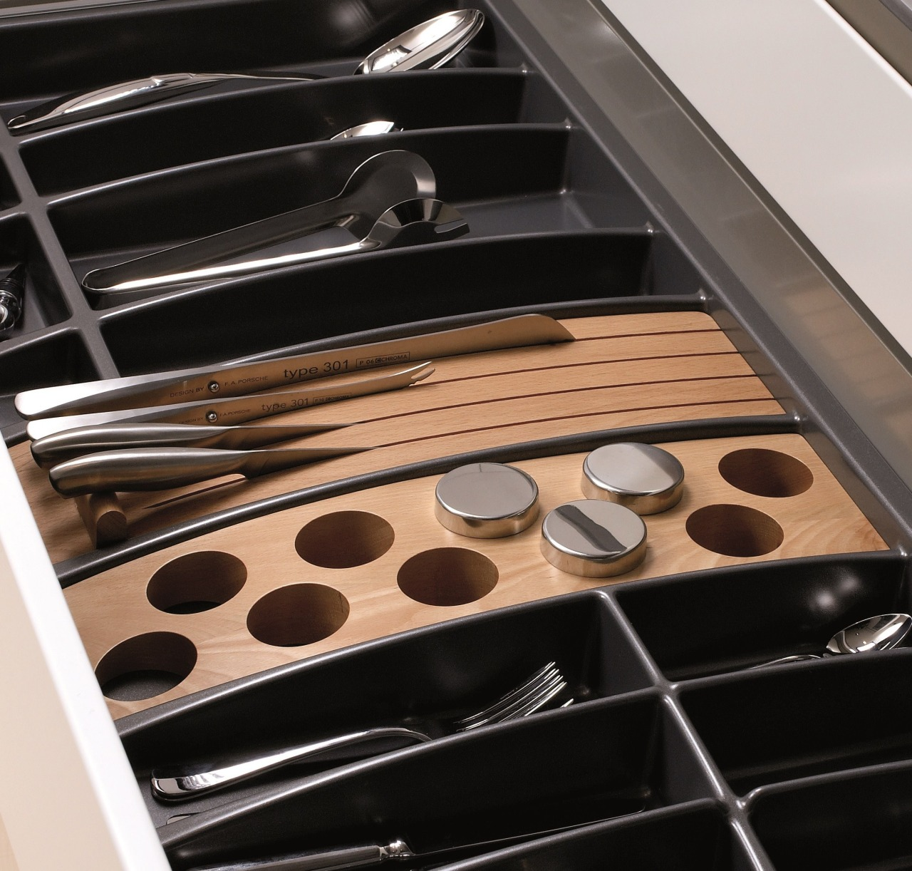 Buy drawer inserts to create a more organised automotive design, automotive exterior, black