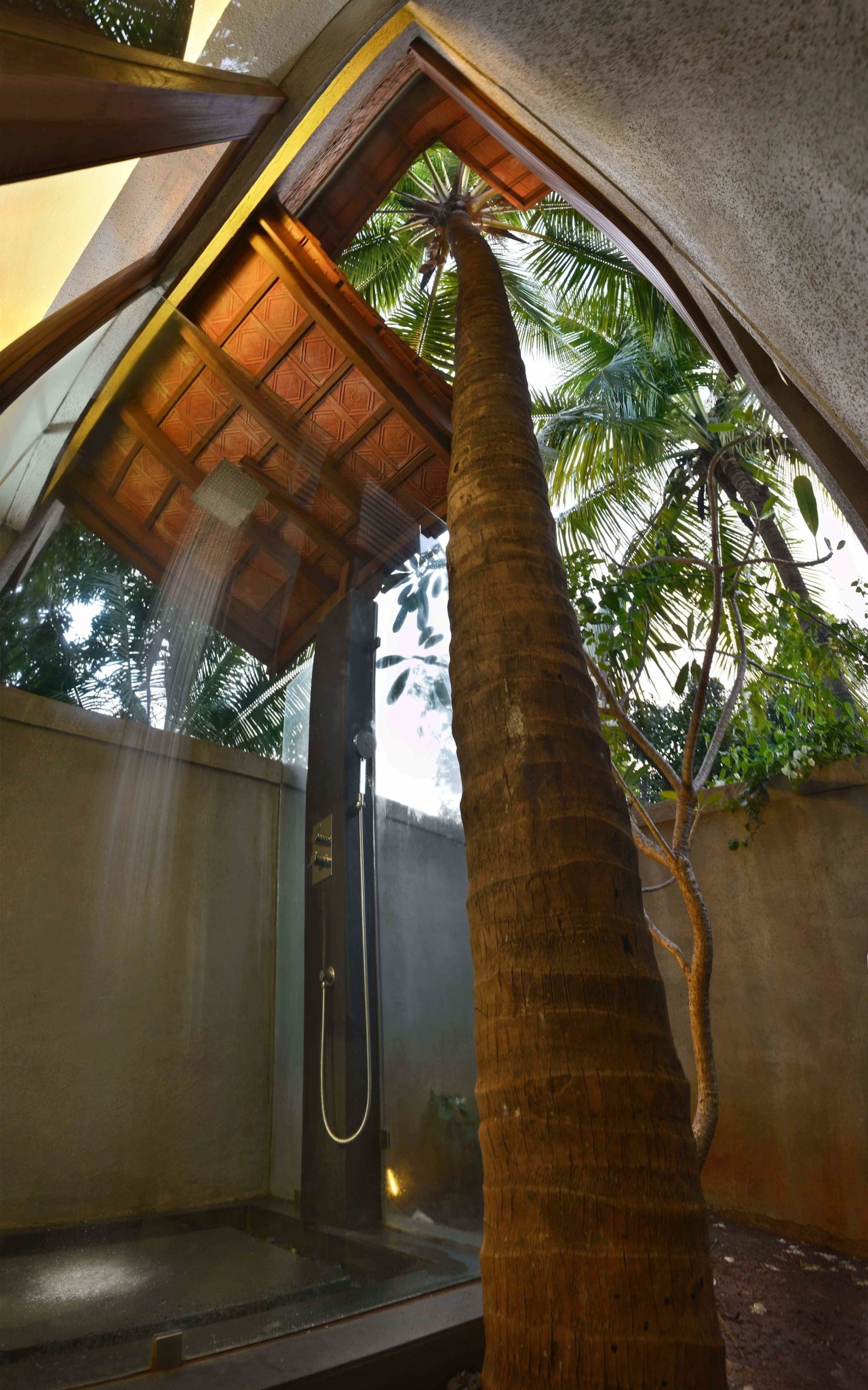 Architect: Studio PKA http://www.purankumar.com/Photographer: Amit Pasricha architecture, house, structure, tree, wood, brown
