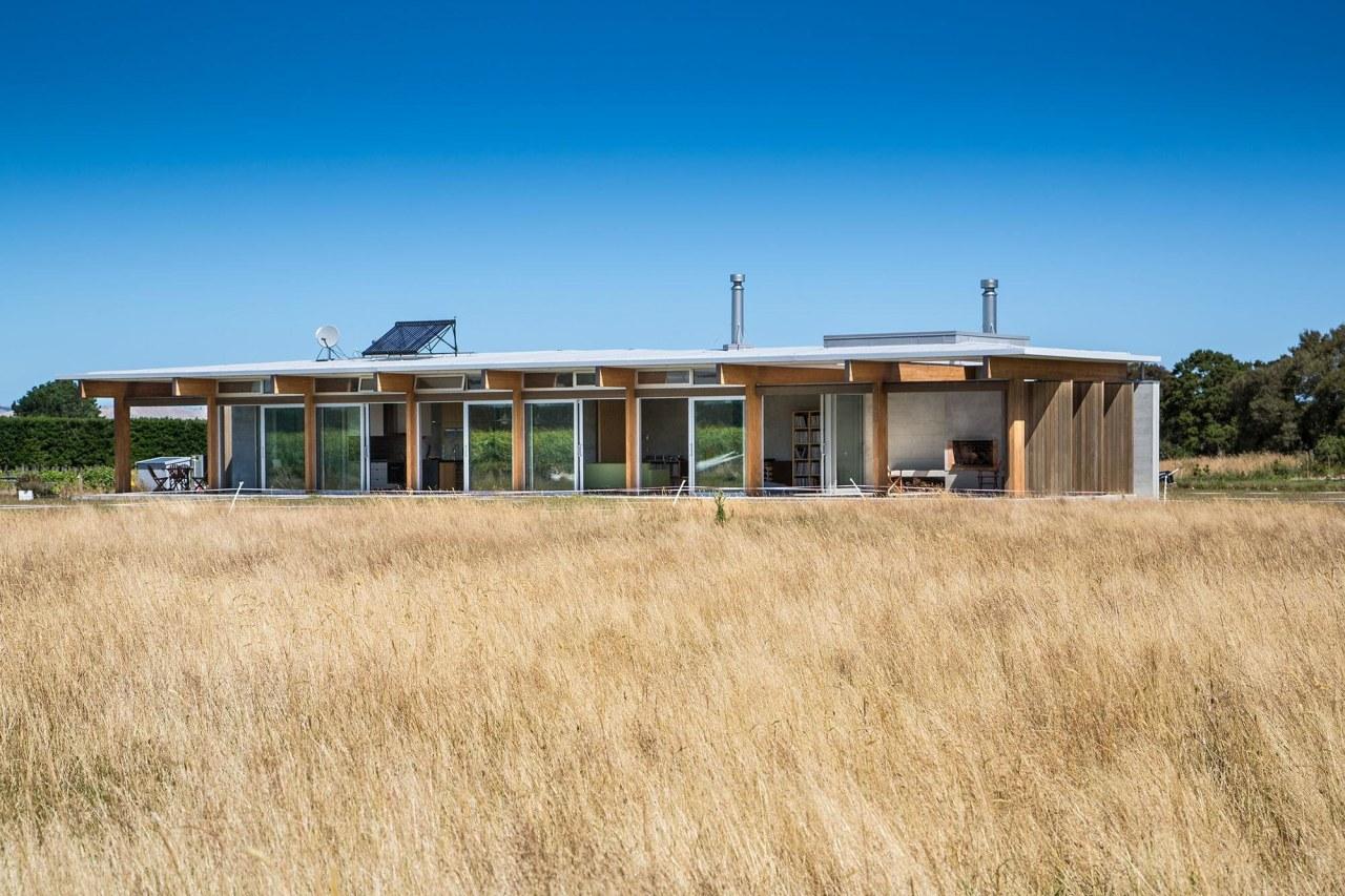 Vineyard House – Novak+Middleton cottage, farmhouse, field, home, house, land lot, landscape, prairie, property, real estate, sky, orange