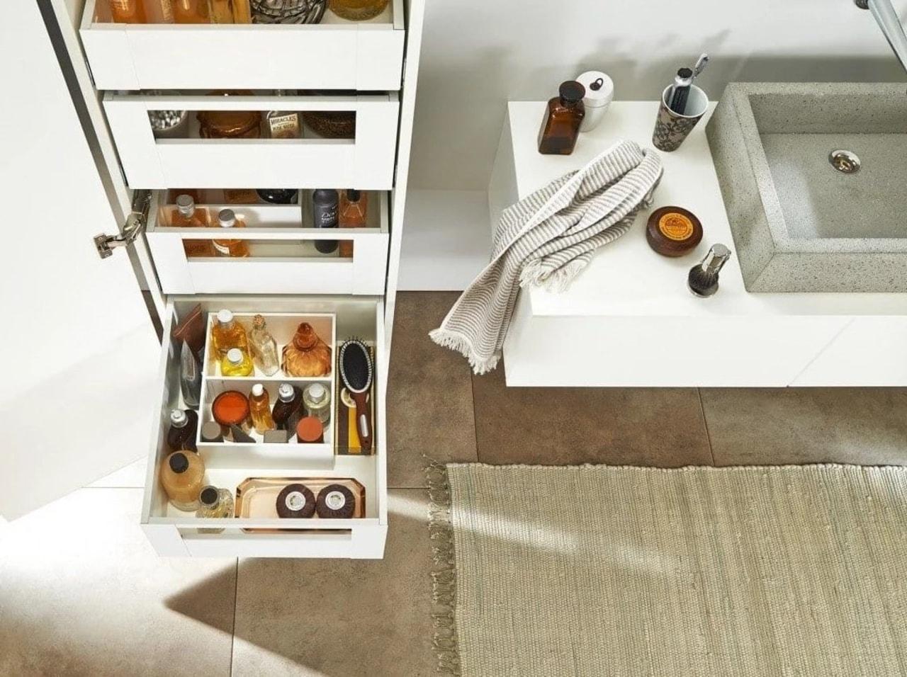 Image from: Blum New Zealand floor, furniture, shelf, white