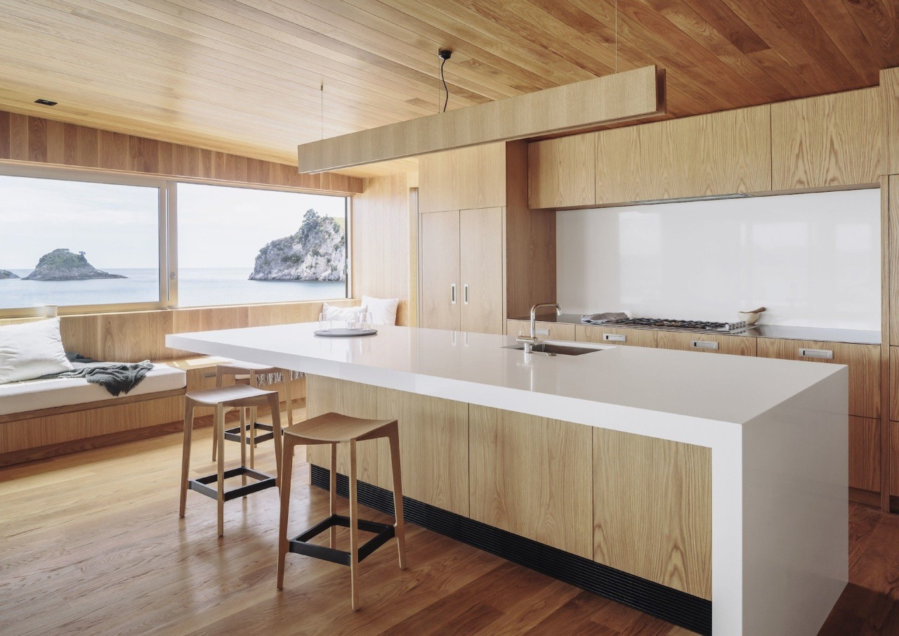 Studio2 Architects – TIDA New Zealand Architect-designed architecture, countertop, floor, flooring, furniture, hardwood, house, interior design, kitchen, real estate, table, wood, wood flooring, gray, brown