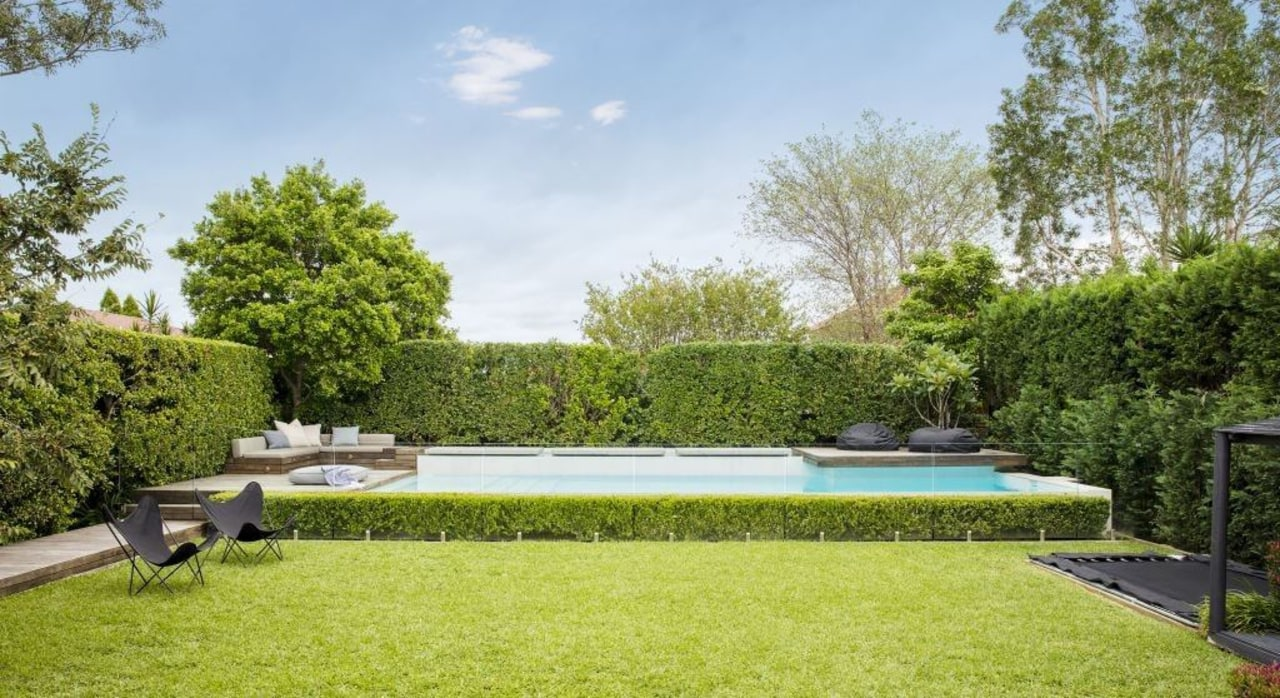 Want to get your outdoor project sorted for backyard, estate, garden, grass, home, house, landscape, landscaping, lawn, leisure, plant, property, real estate, residential area, swimming pool, tree, yard, brown