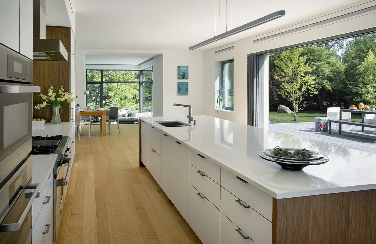 Architect: ZeroEnergy DesignPhotography by Eric Roth countertop, interior design, kitchen, real estate, window, gray
