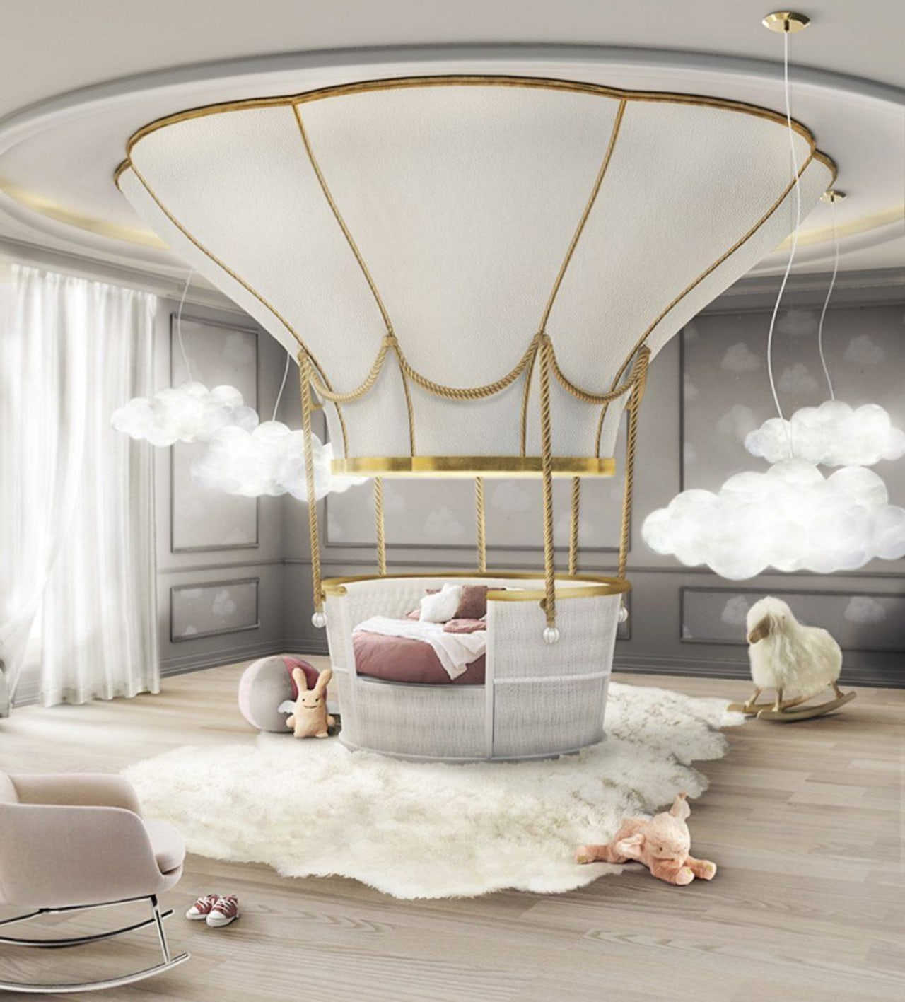 Circa's Air Balloon bed is a themed children's