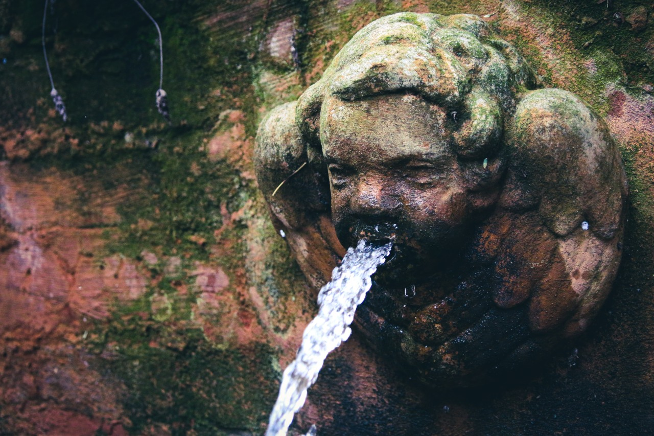 Nature's answer to white noise – water features