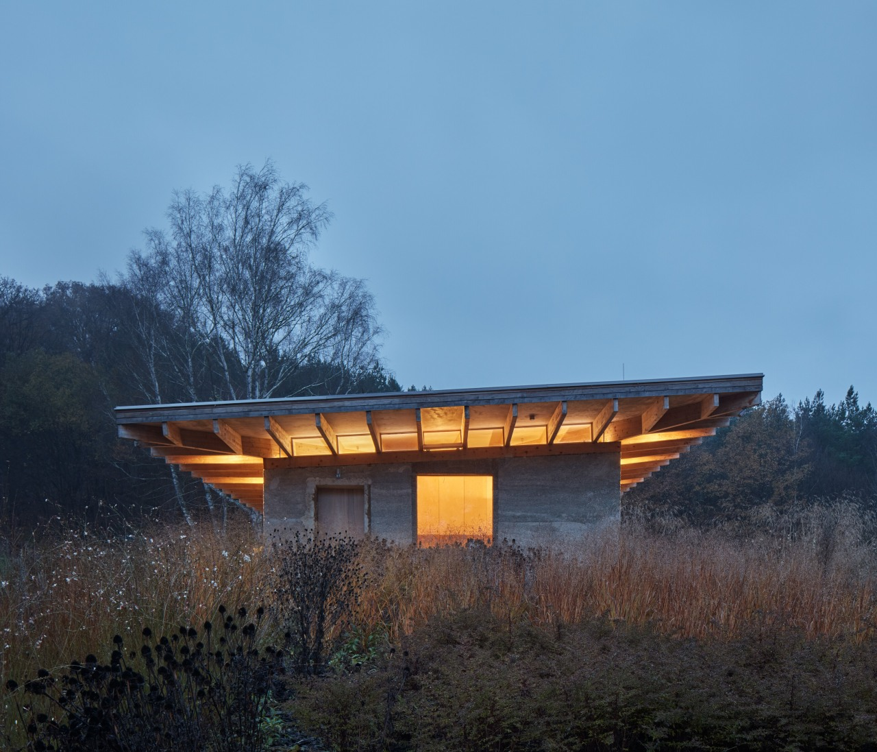Inside out – clerestory windows allow the home's