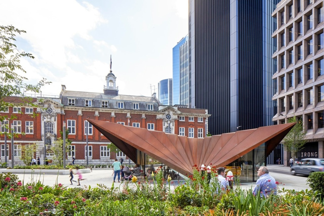 Aldgate Pavilion is the centrepiece structure for the building, city, condominium, downtown, mixed use, plaza, real estate, white