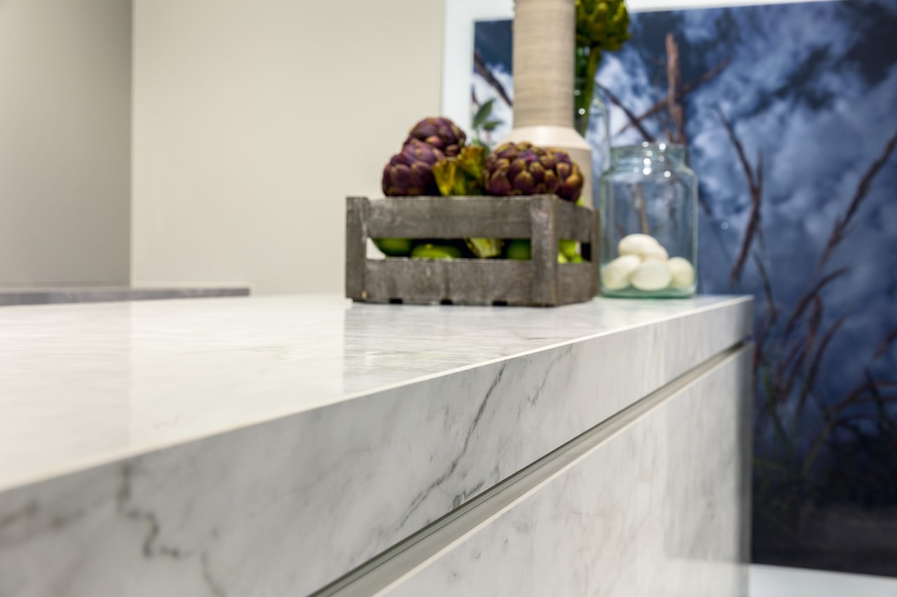 ​​​​​​​The refined look of marble but without the countertop, home, interior design, Kitchen benchtop, Florim Stone, Archant