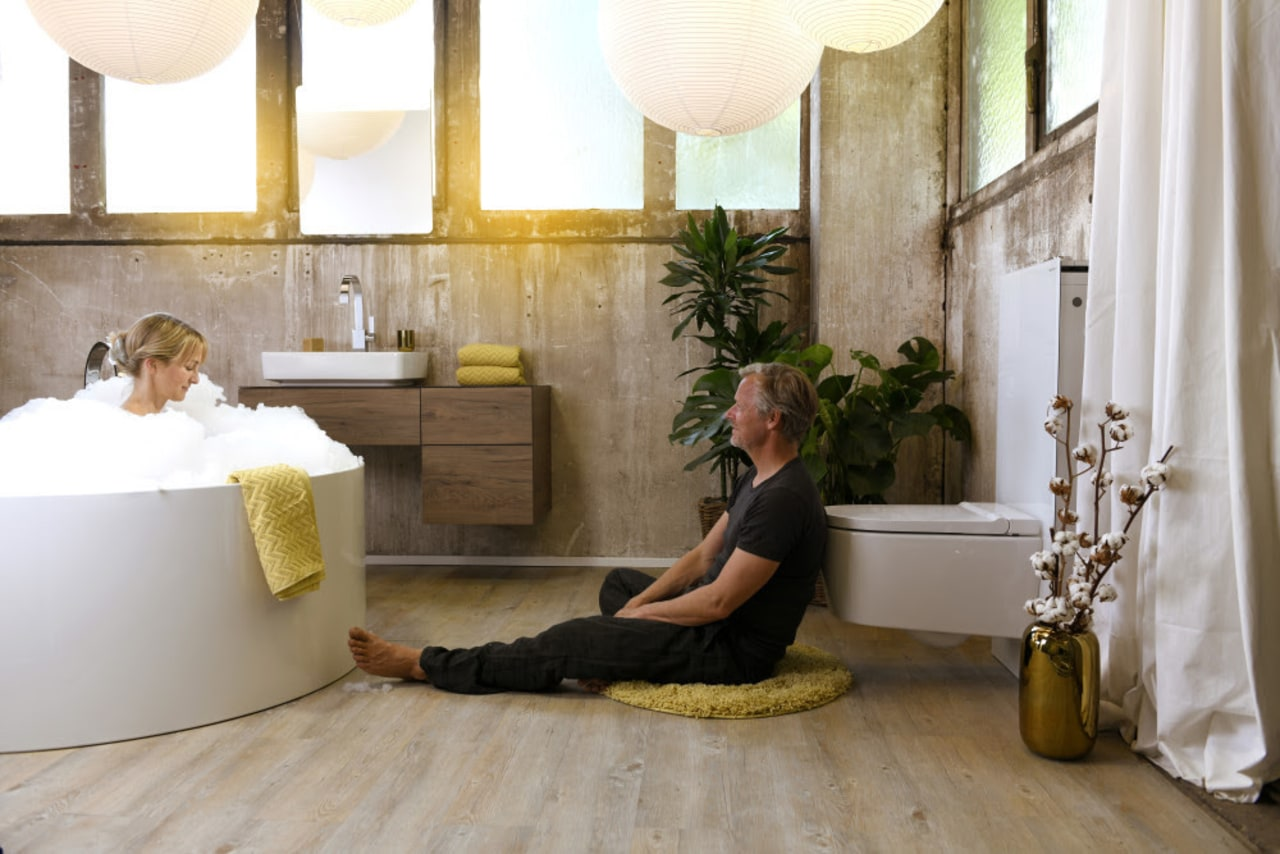 A bathroom spa is an opportunity for storytelling