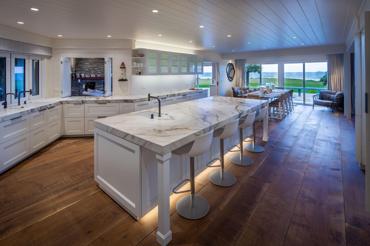 A seaside kitchen by award-winning designer Damian Hannah.