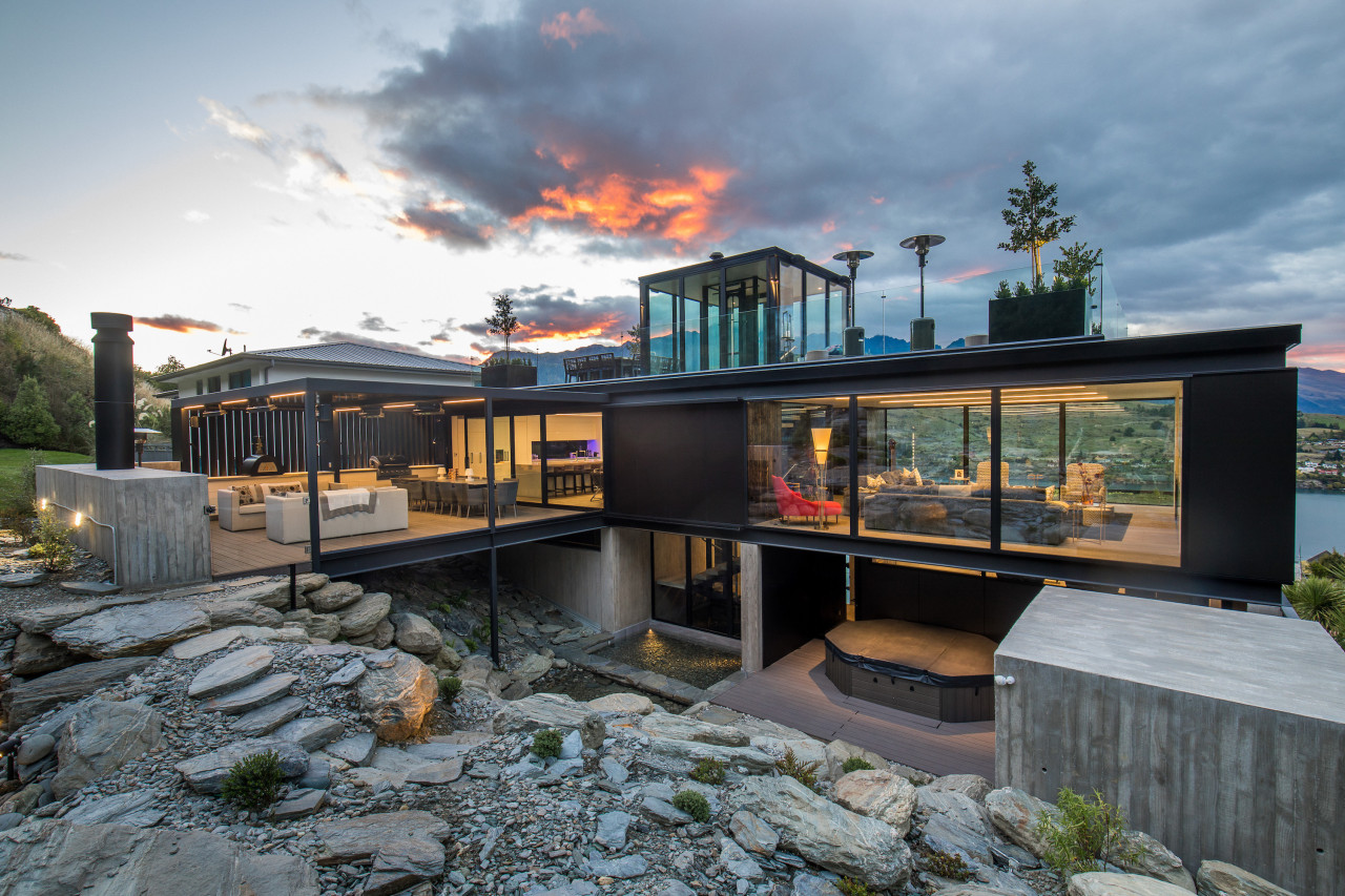 Winner – Gary Todd Architecture – TIDA New architecture, home, house, real estate, gray, black