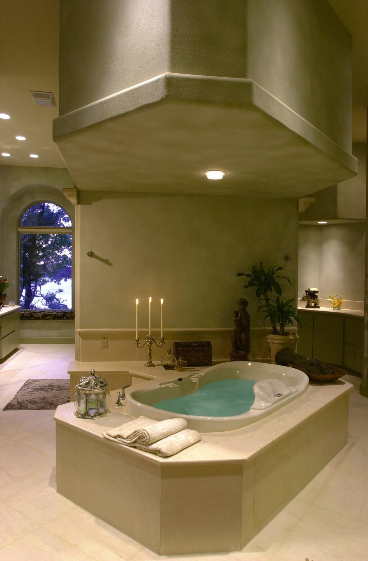 Incredible design elements in this bathroom bathroom, ceiling, countertop, estate, home, interior design, lighting, room, brown