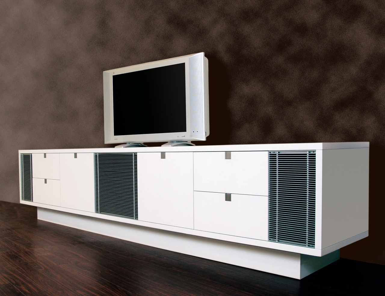 View of theatre furniture furniture, product, product design, sideboard, black