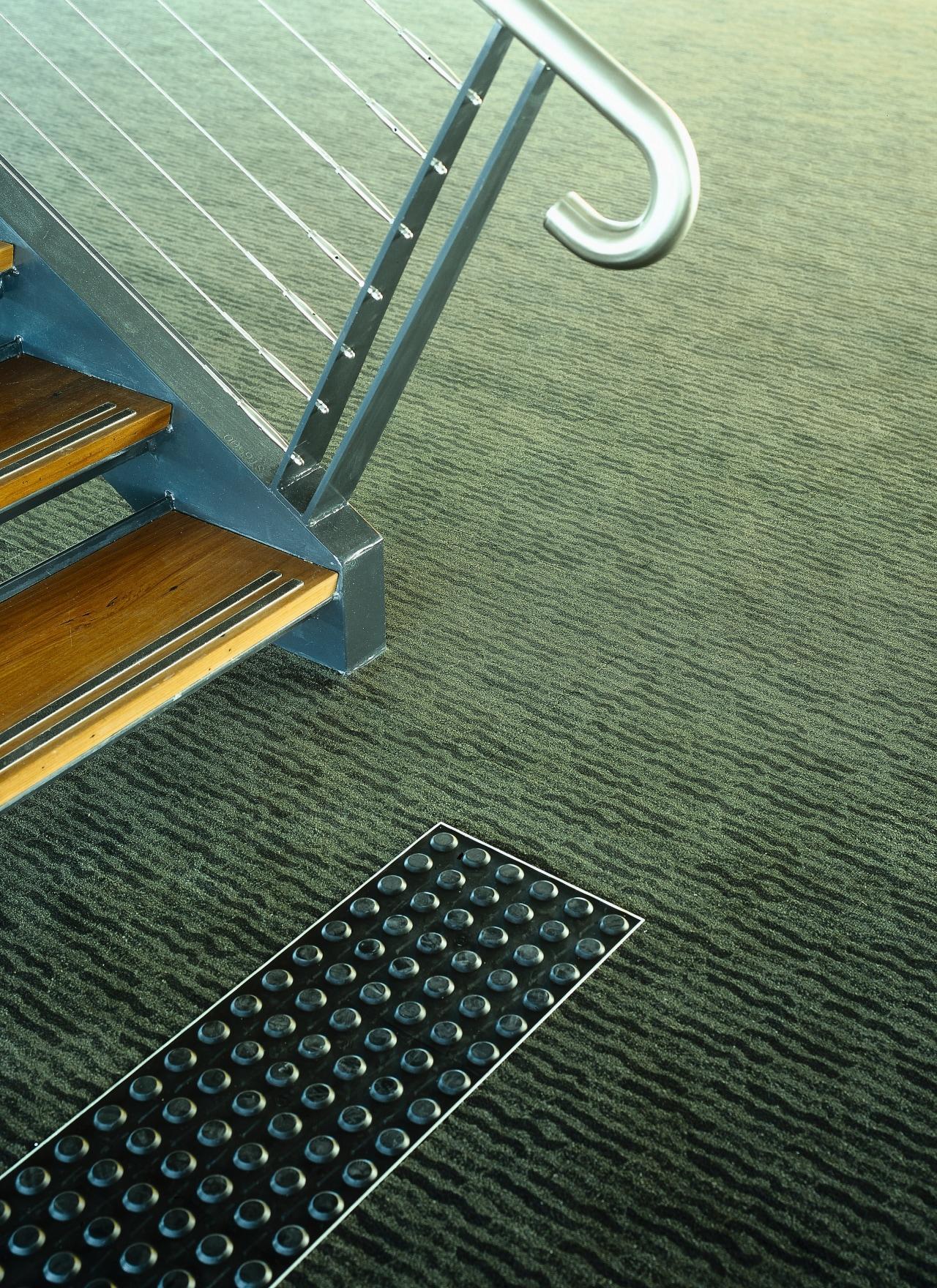view of the carpets by onterra floor, line, mesh, metal, green, black