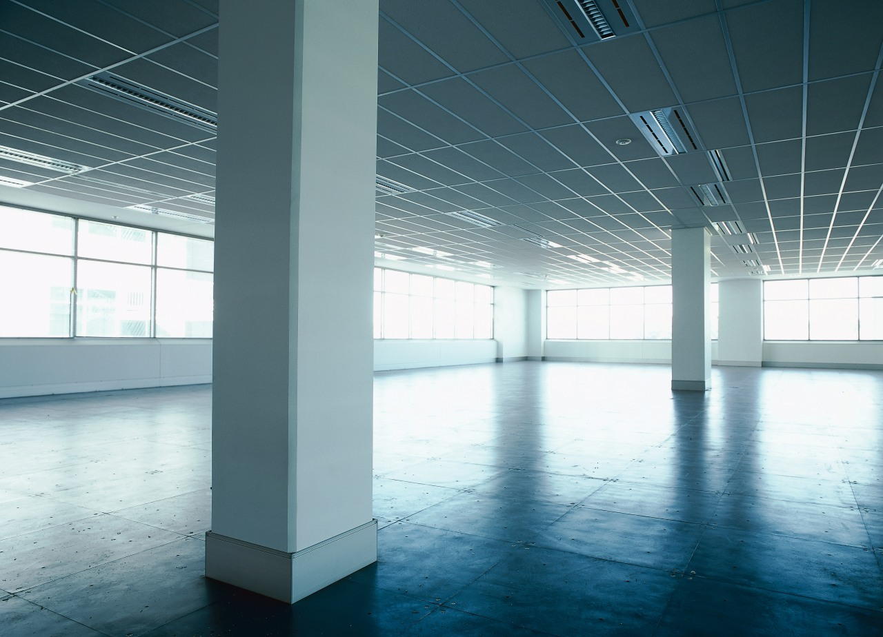 view of the raised access flooring architecture, ceiling, daylighting, daytime, floor, glass, light, line, structure, white, teal