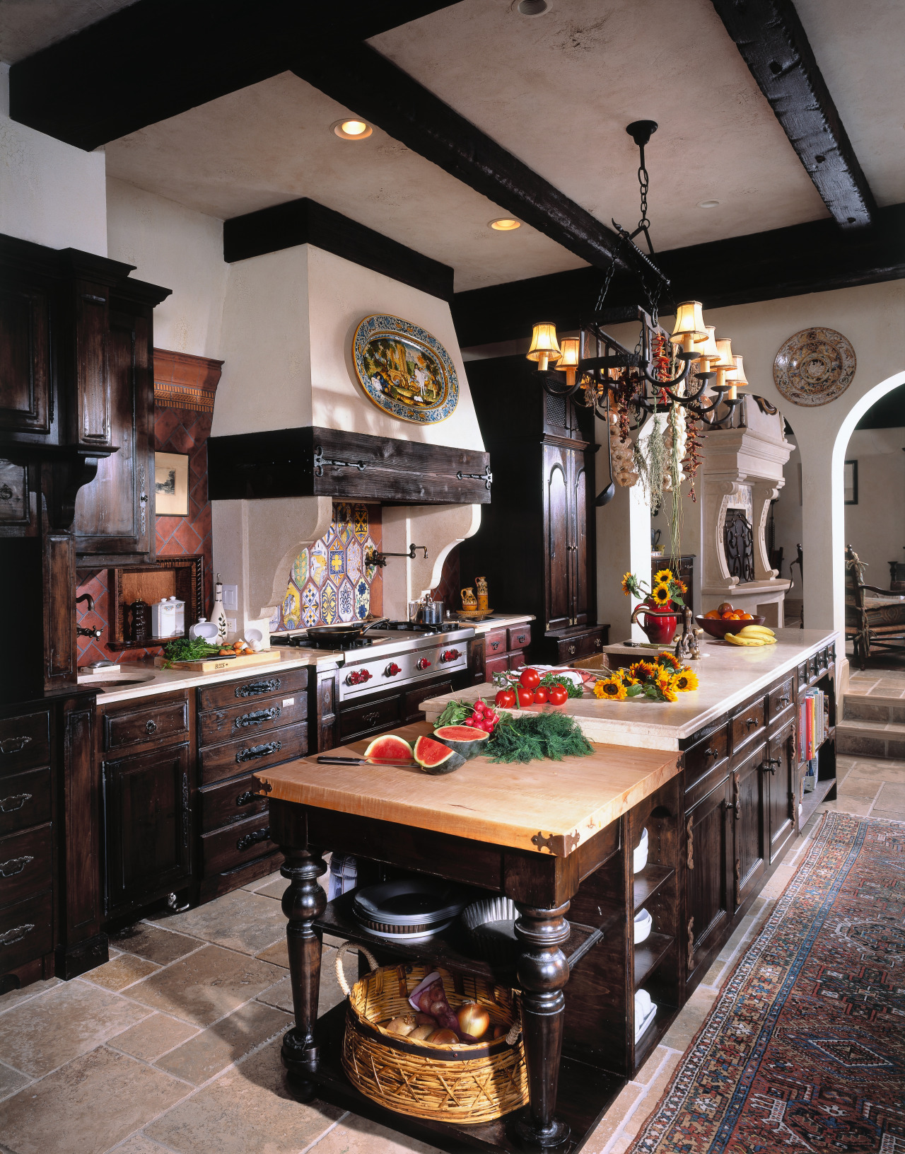view of this kitchen featuring an electic range countertop, interior design, kitchen, room, table, black, gray