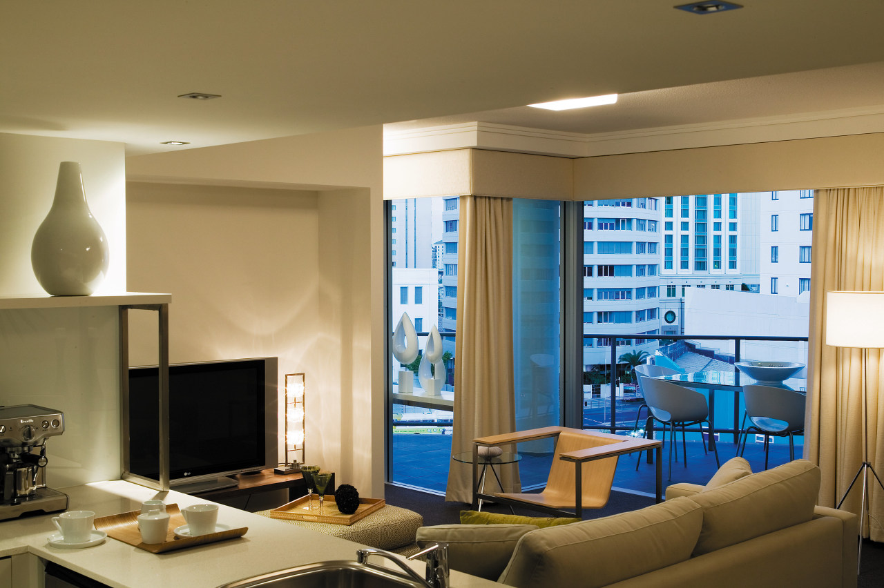 view of the interior of the HUB apartments ceiling, interior design, living room, room, window, brown