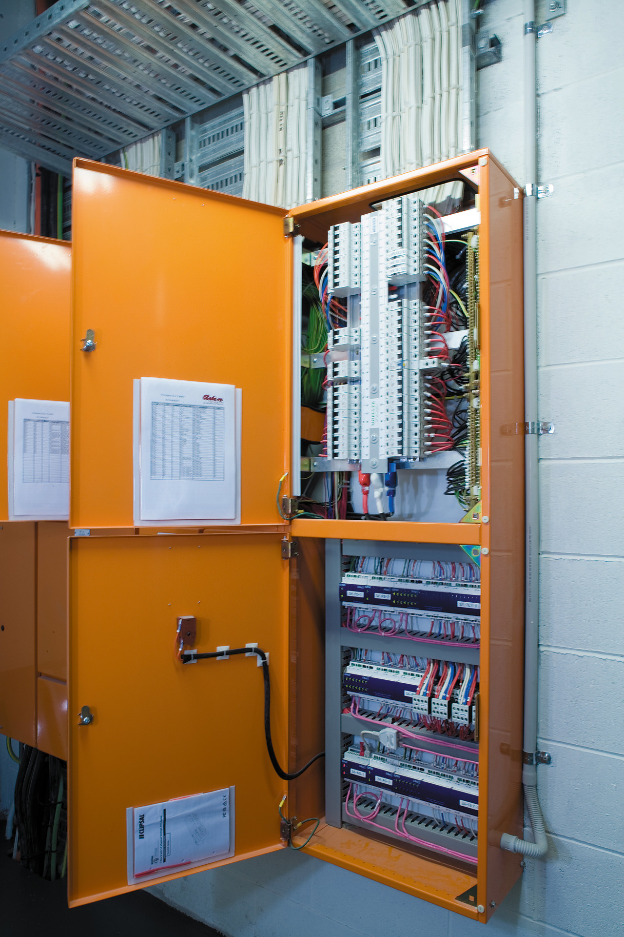 A viewof the electrical technology. electrical wiring, machine, product, shelving