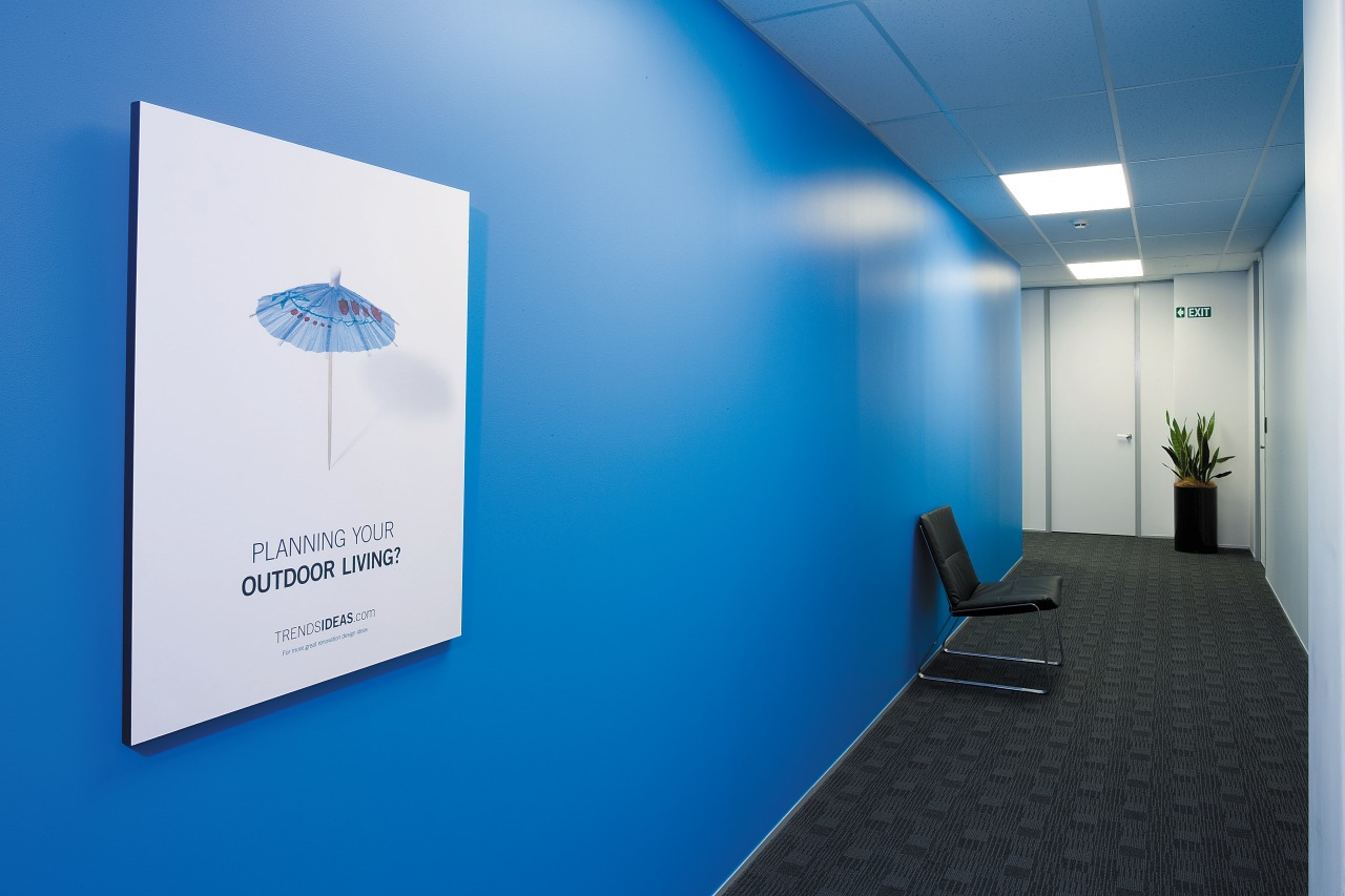 view of the treds office featuring blue featuring, blue, product design, blue, teal