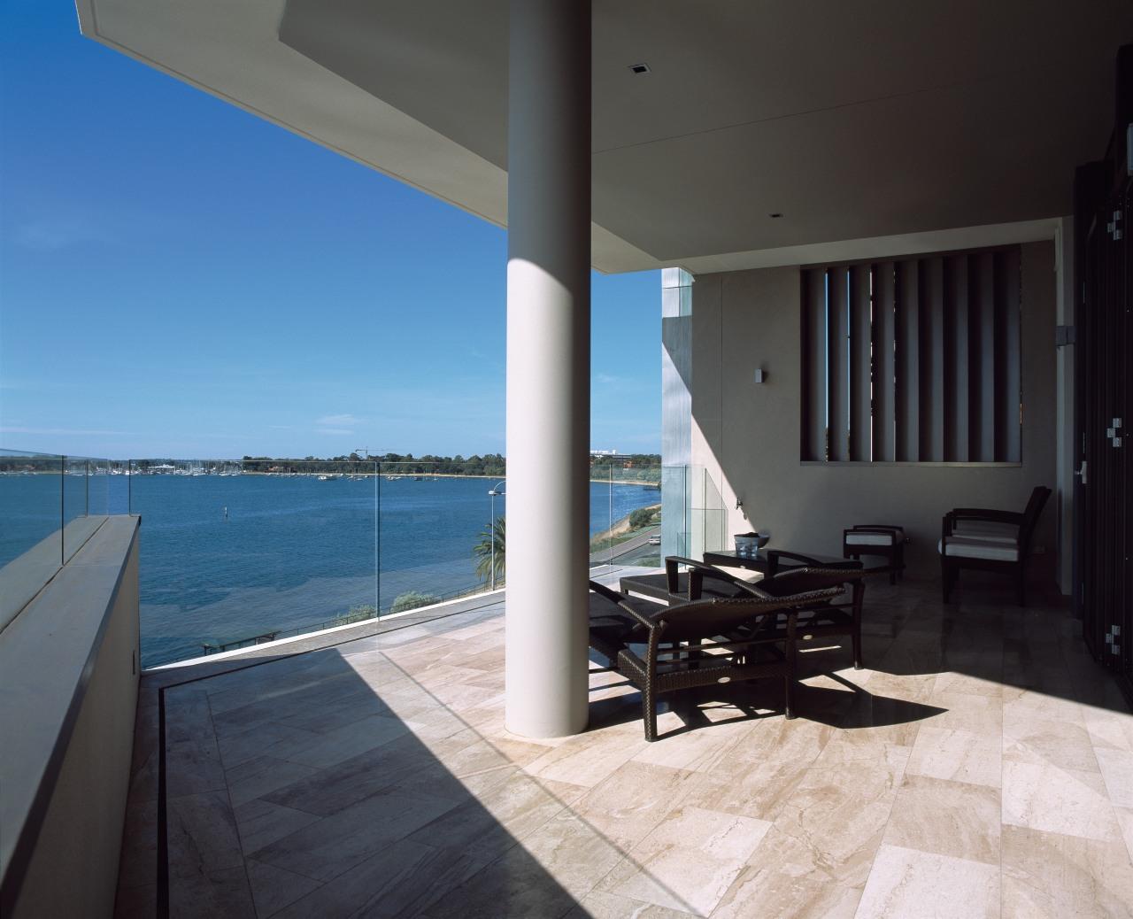Cygen Crawley Edge Apartments have 50m² balconies that apartment, architecture, condominium, daylighting, estate, floor, house, interior design, penthouse apartment, property, real estate, sea, sky, window, black